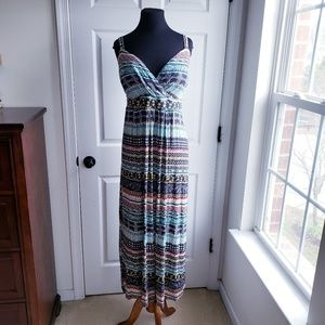 New American Rag Cie 3X Tribal Print Maxi Dress